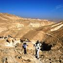 Israel desert hiking in the Negev