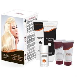 Blond Hair Straightening and Restoration enriched with Black Caviar