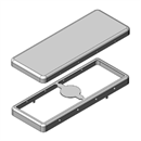 MS477-10 | Drawn EMI Shielding Can | Two-piece RF Shield, 47.7 x 18.2 x 4 mm