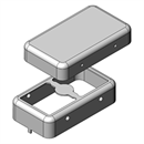 MS210-10 | Drawn EMI Shielding Can | Two-piece RF Shield, 21 x 12 x 5 mm