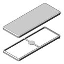 MS737-10 | Drawn EMI Shielding Can | Two-piece RF Shield, 73.7 x 28.1 x 2.9 mm
