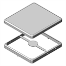 MS366-10 | Drawn EMI Shielding Can | Two-piece RF Shield, 36.6 x 34.1 x 3.3 mm