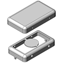 MS183-10 | Drawn EMI Shielding Can | Two-piece RF Shield, 18.3 x 10.5 x 3 mm