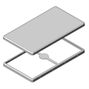 MS631-10 | Drawn EMI Shielding Can | Two-piece RF Shield, 63.1 x 35.5 x 2.8 mm